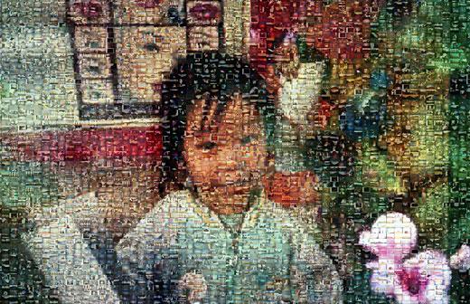 Mosaico Chinês Interativo por Dominique Musorrafiti.